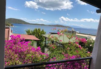Bodrum Bitez Aktur 'da Kiralık Manzaralı Yazlık Villa