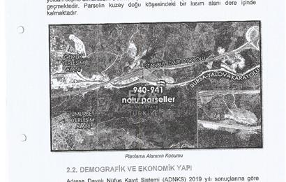 ERA SKY* GEMLİK-YALOVA YOLUNDA 4.960 M2 TİCARİ İMARLI ARSA