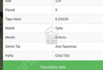 Eskişehir Muttalip Kırkoru Mevkiinde Satılık Tarla